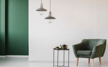 Green Suede Chair