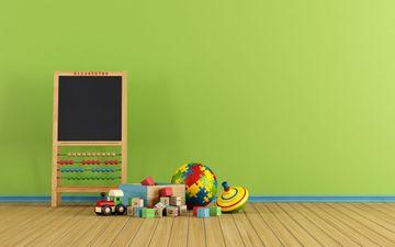 Green Wall & Small Blackboard