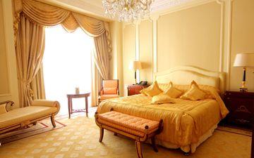 Sunlit Orange Bedroom