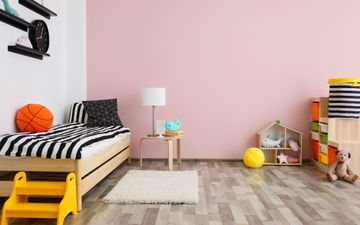 Bed & Pink Wall