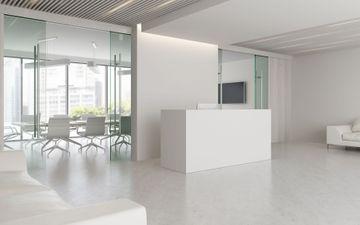White Reception Desk