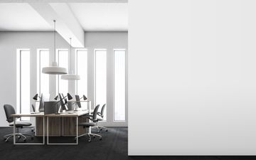Office With White Wall