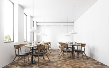 White Walls & Wood Floor