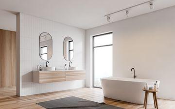 White Tub & Bench