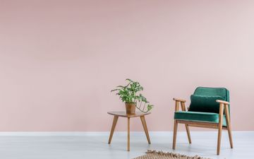 Pink Wall & Green Chair