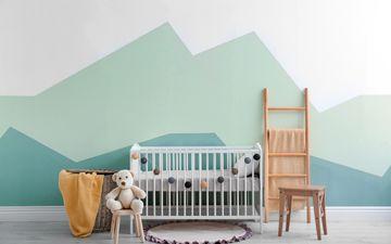 Crib & Pastel Wall