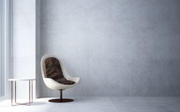 Egg Chair & Grey Wall