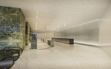 Green Granite Lobby